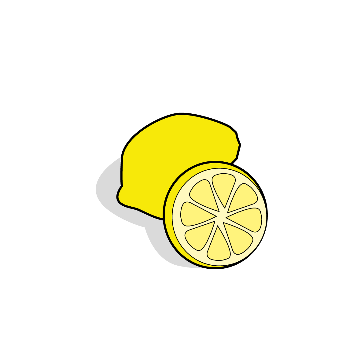 Icone d'un citron, ailmacocotte.com