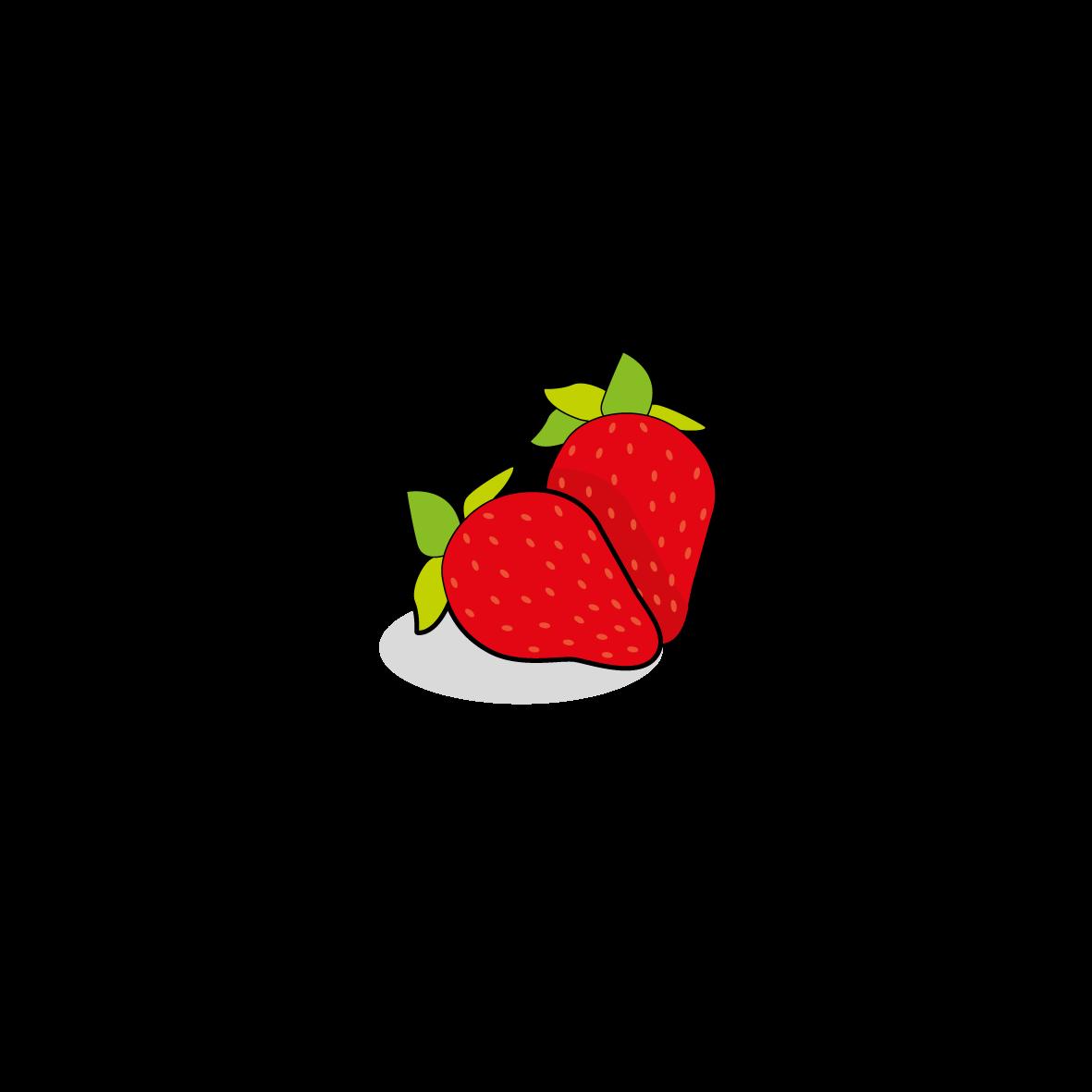 Icone d'une fraise, ailmacocotte.com