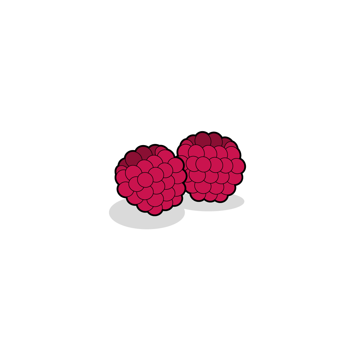 Icone de framboises, ailmacocotte.com
