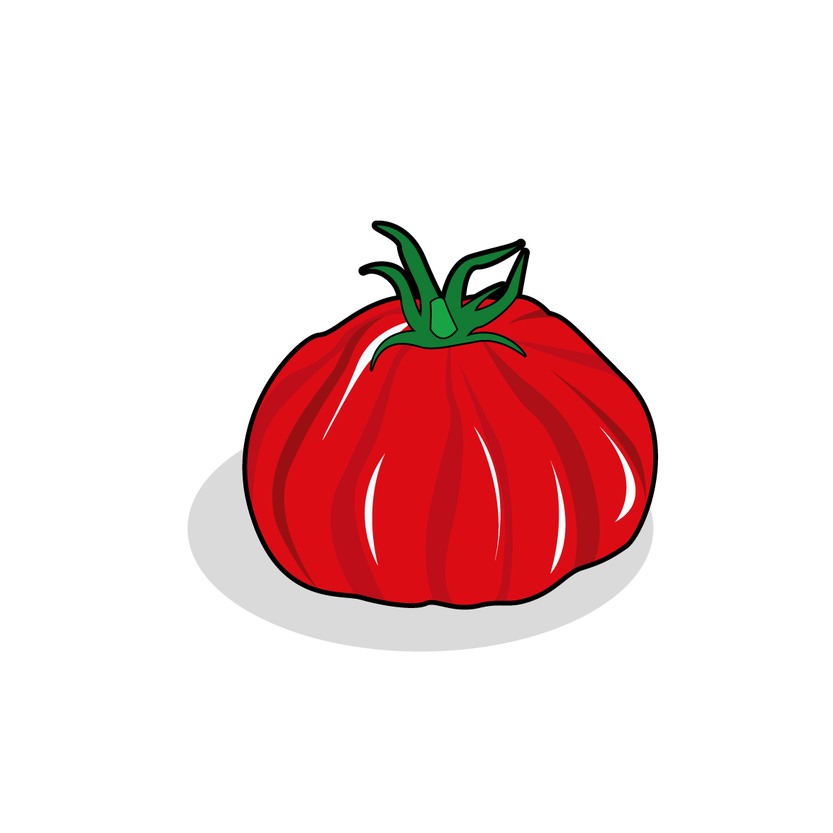 Icone d'une tomate, ailmacocotte.com