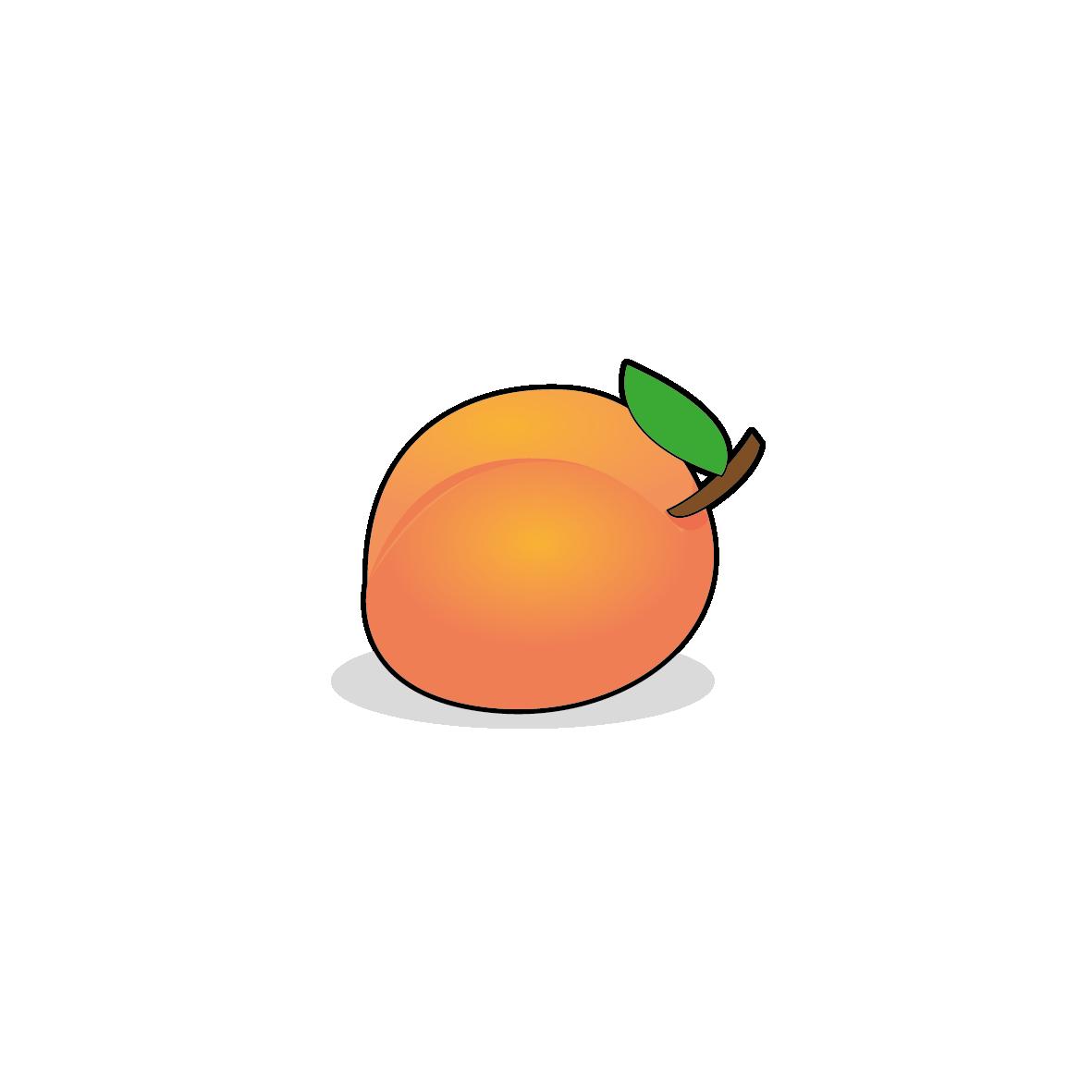 Icone d'un abricot, ailmacocotte.com