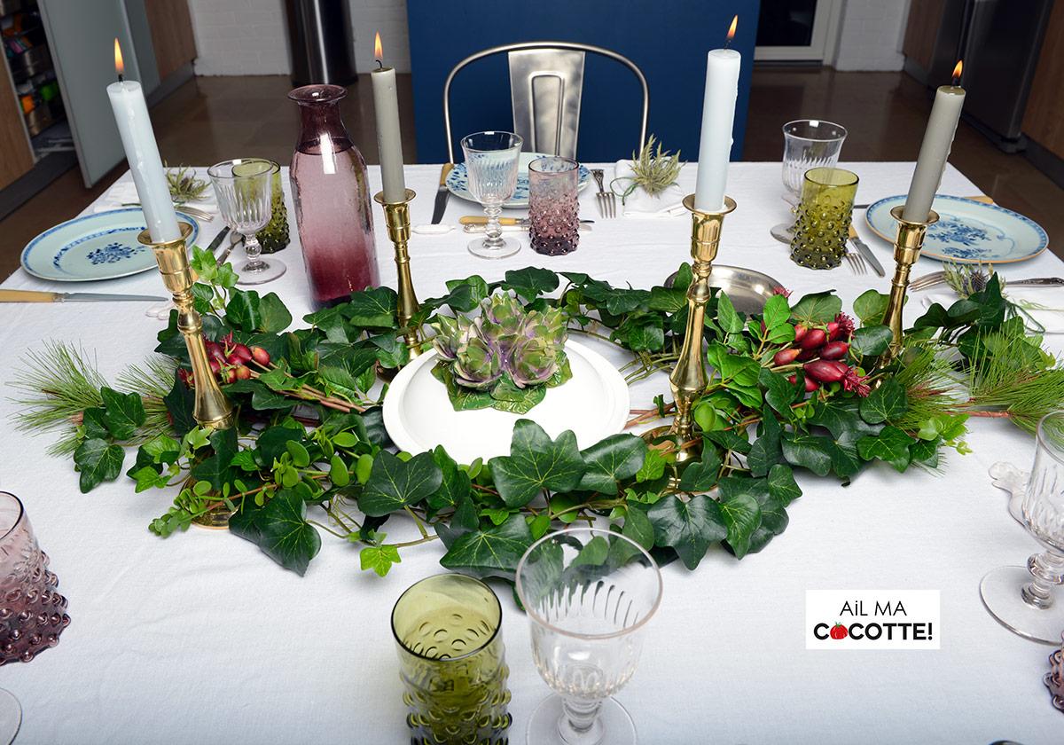 table lierre et chardons