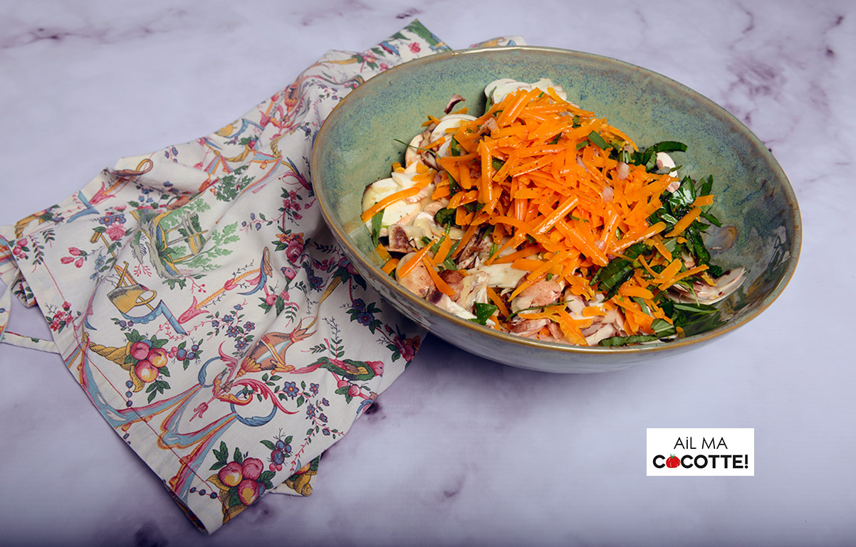 salade de champignons à la mimolette