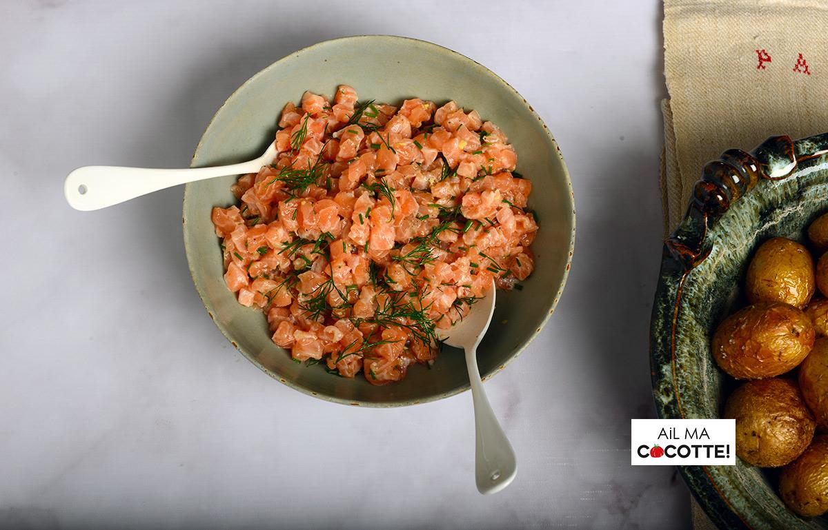 Tartare de saumon pommes de terre