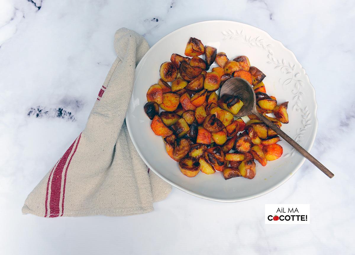 Pommes de terre rôties au safran