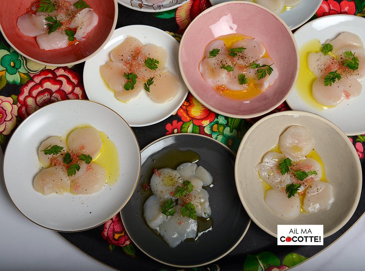 Carpaccio de Saint-Jacques au citron caviar
