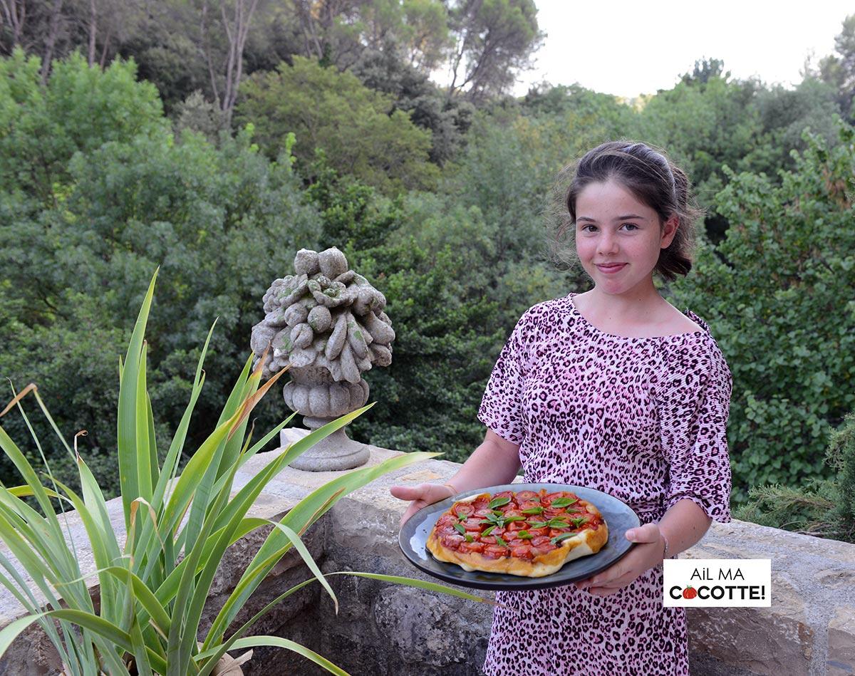 Tatin de tomates à la stracciatella