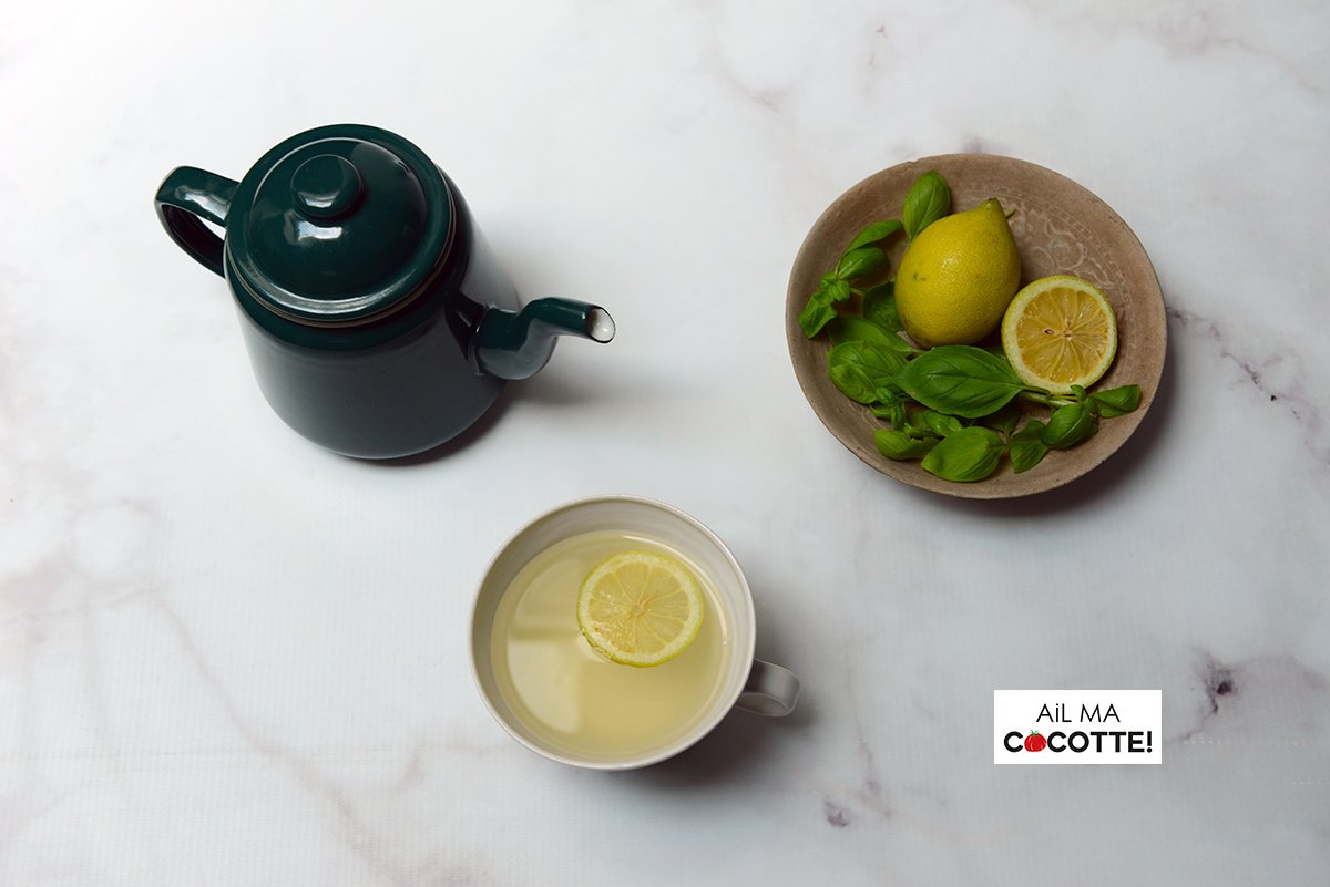 Infusion citron basilic
