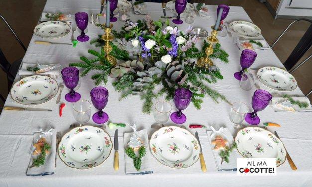 TABLE DE NOËL AUX JACINTHES