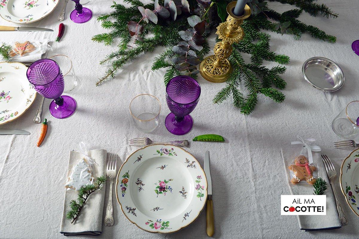 Table de noël aux jacinthes, ailmacocotte.com