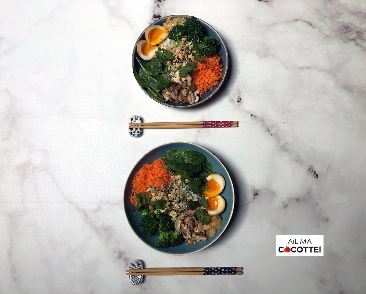 bowls œufs marinés