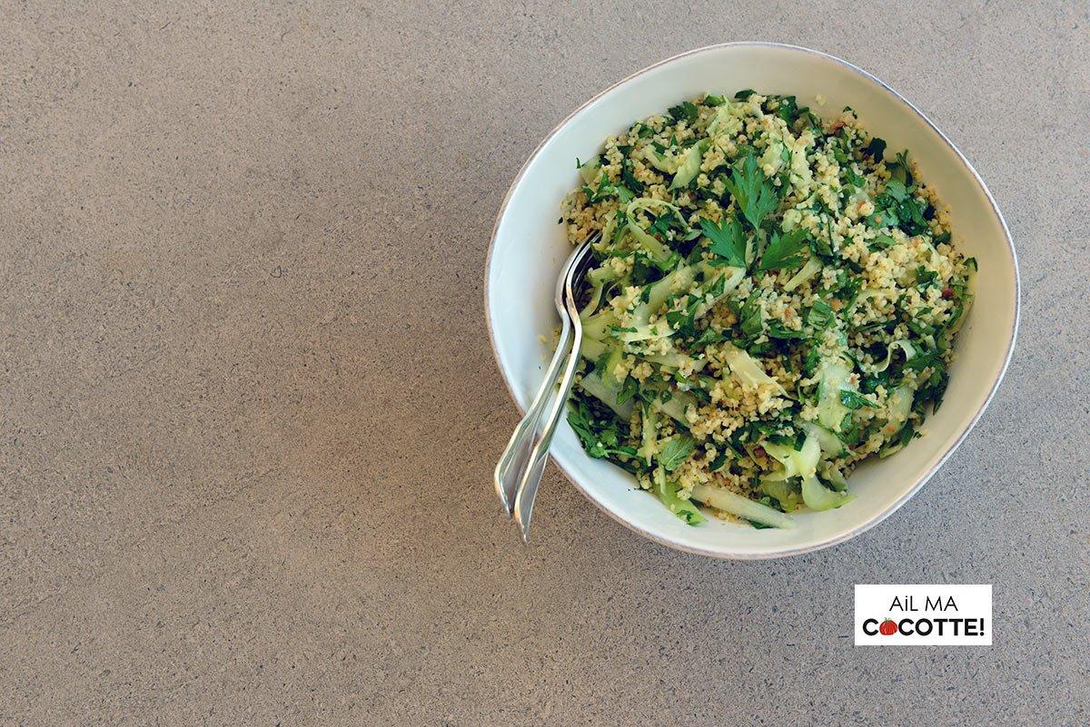 La salade de boulgour d'Angèle, ailmacocotte.com