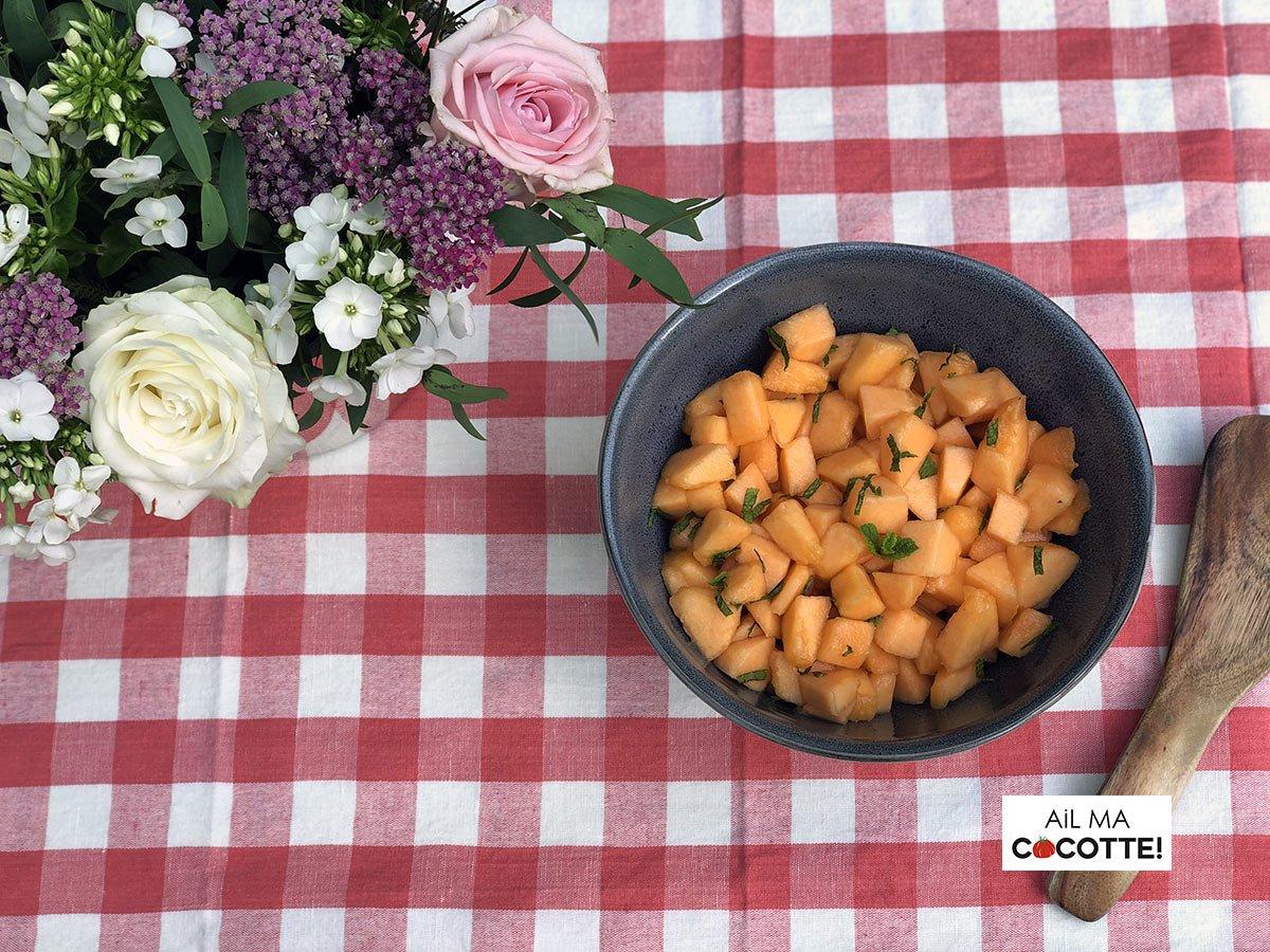 Salade de melon au pastis, ailmacocotte.com