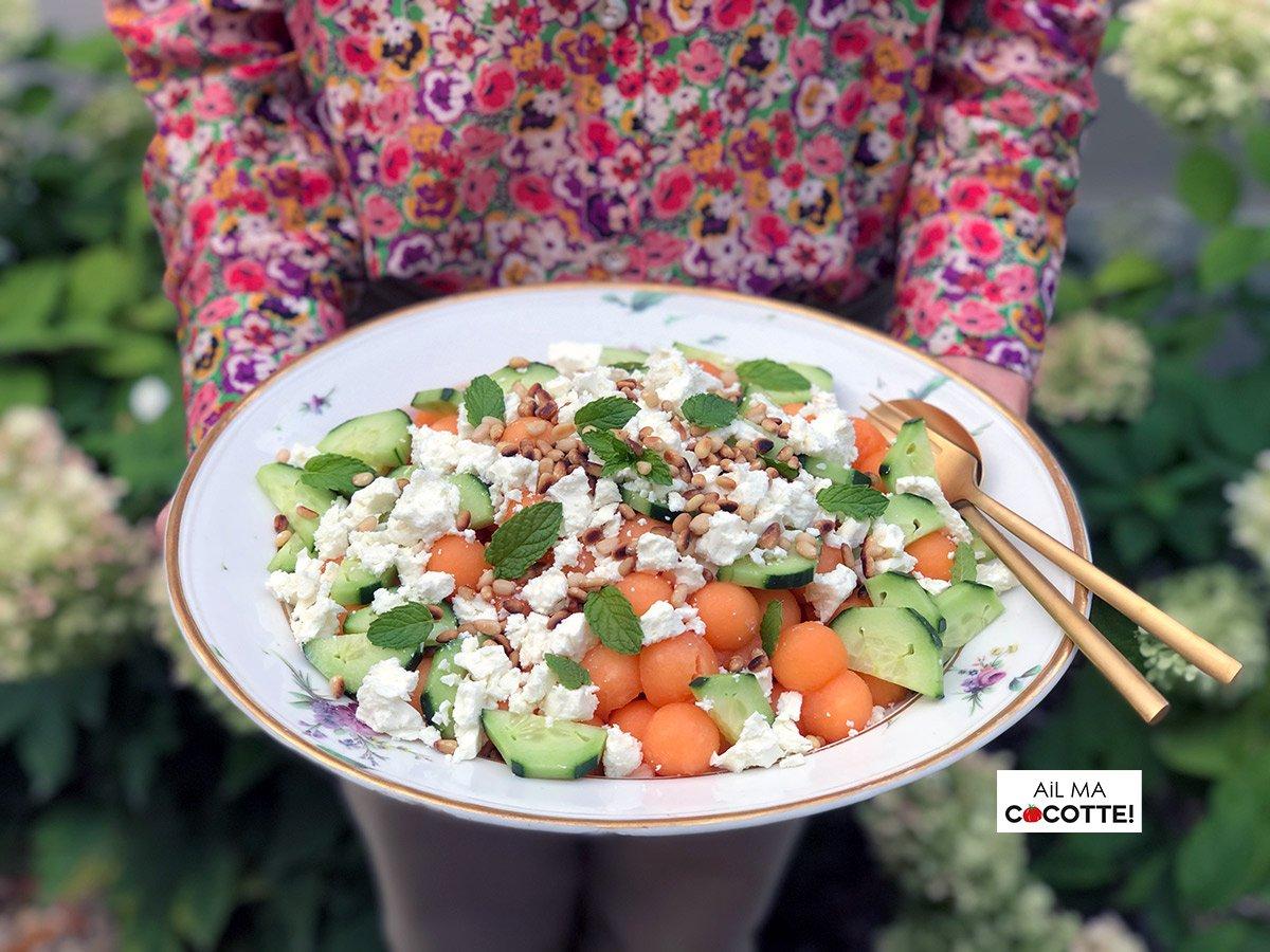 Salade melon feta, ailmacocotte.com
