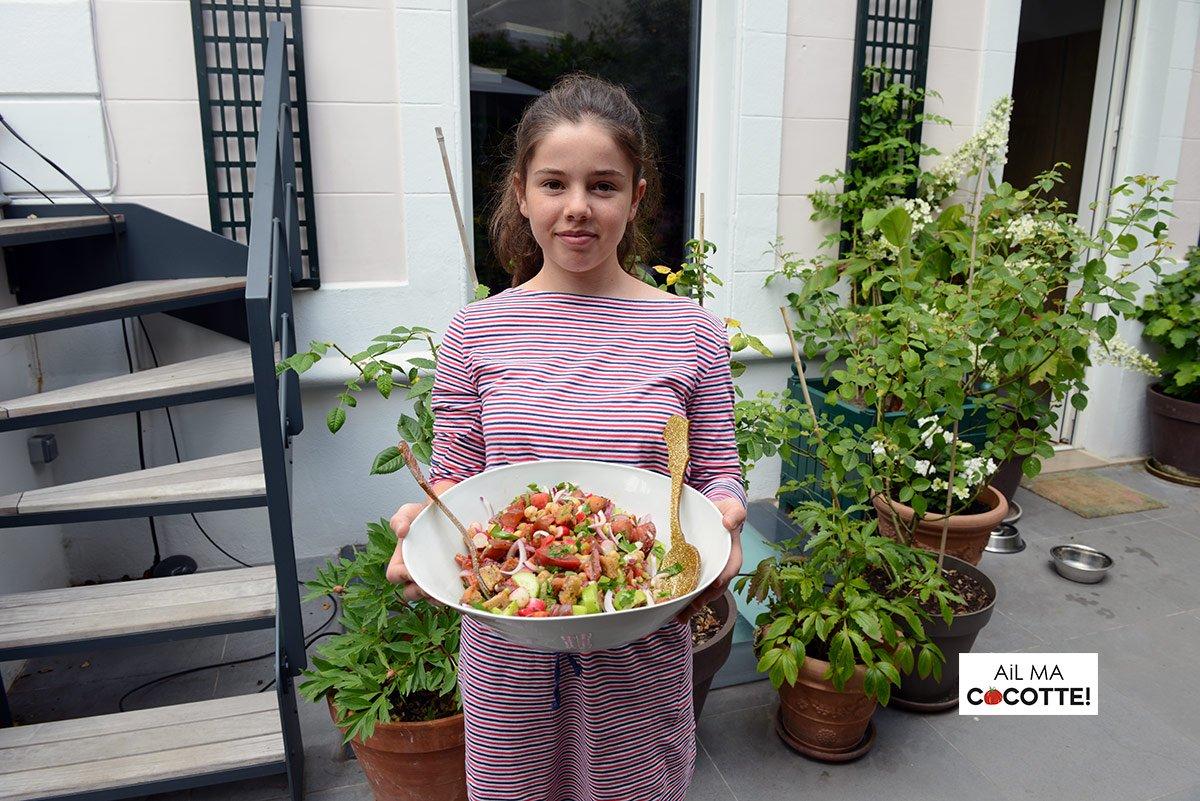 Salade fattoush, ailmacocotte.com