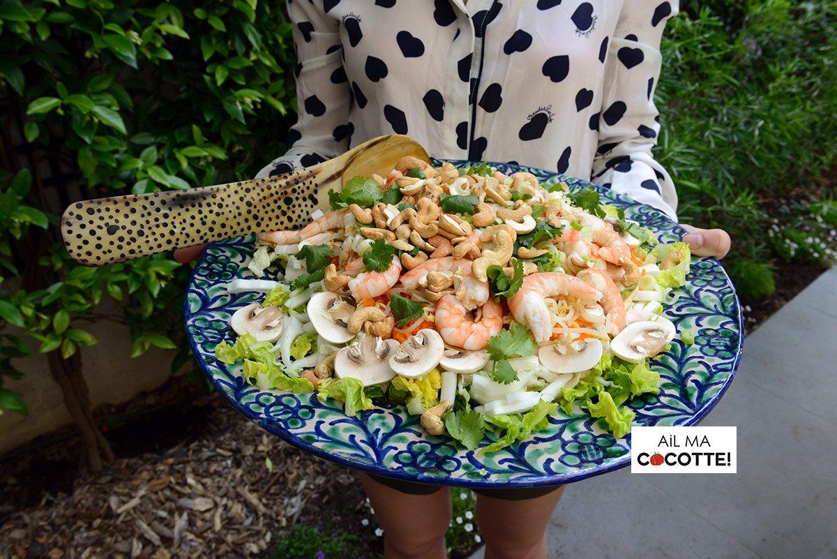 Salade thaïe aux crevettes, ailmacocotte.com