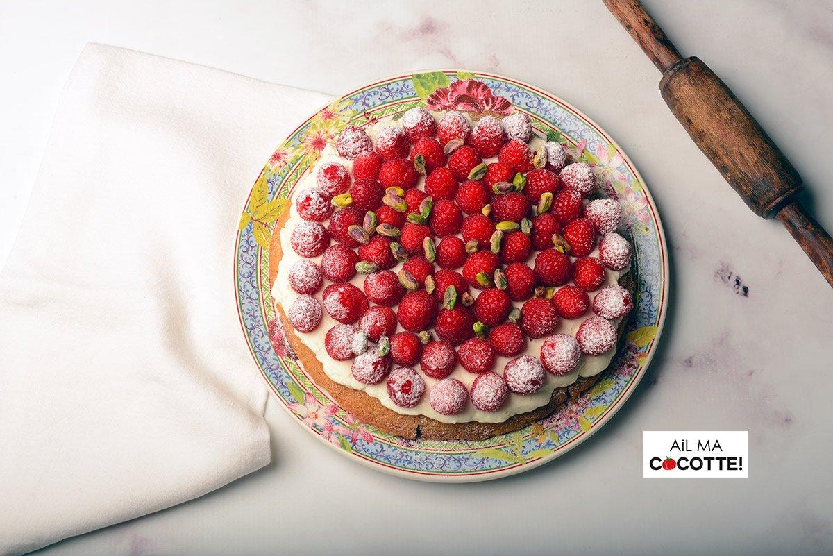 Tarte aux framboises, ailmacocotte.com