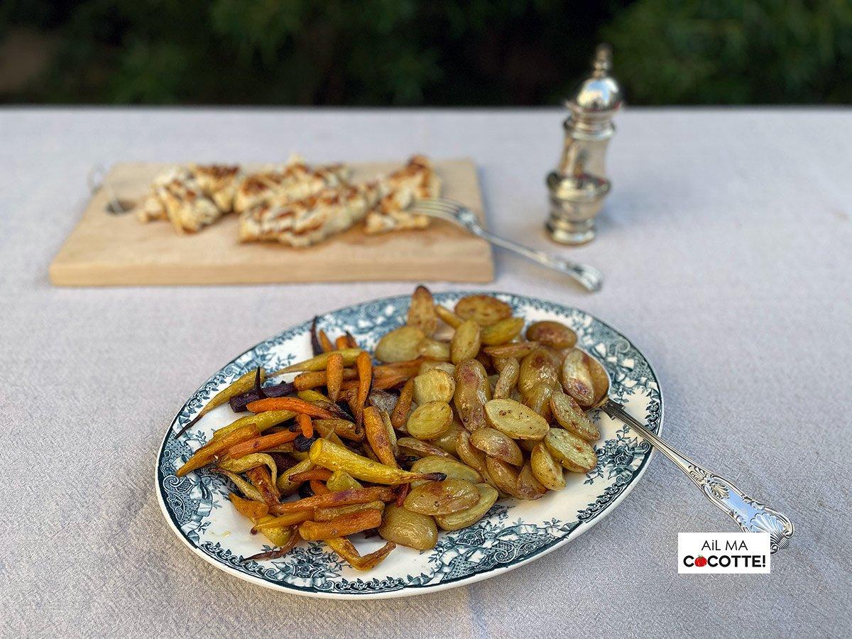 Légumes racines rôtis, ailmacocotte.com