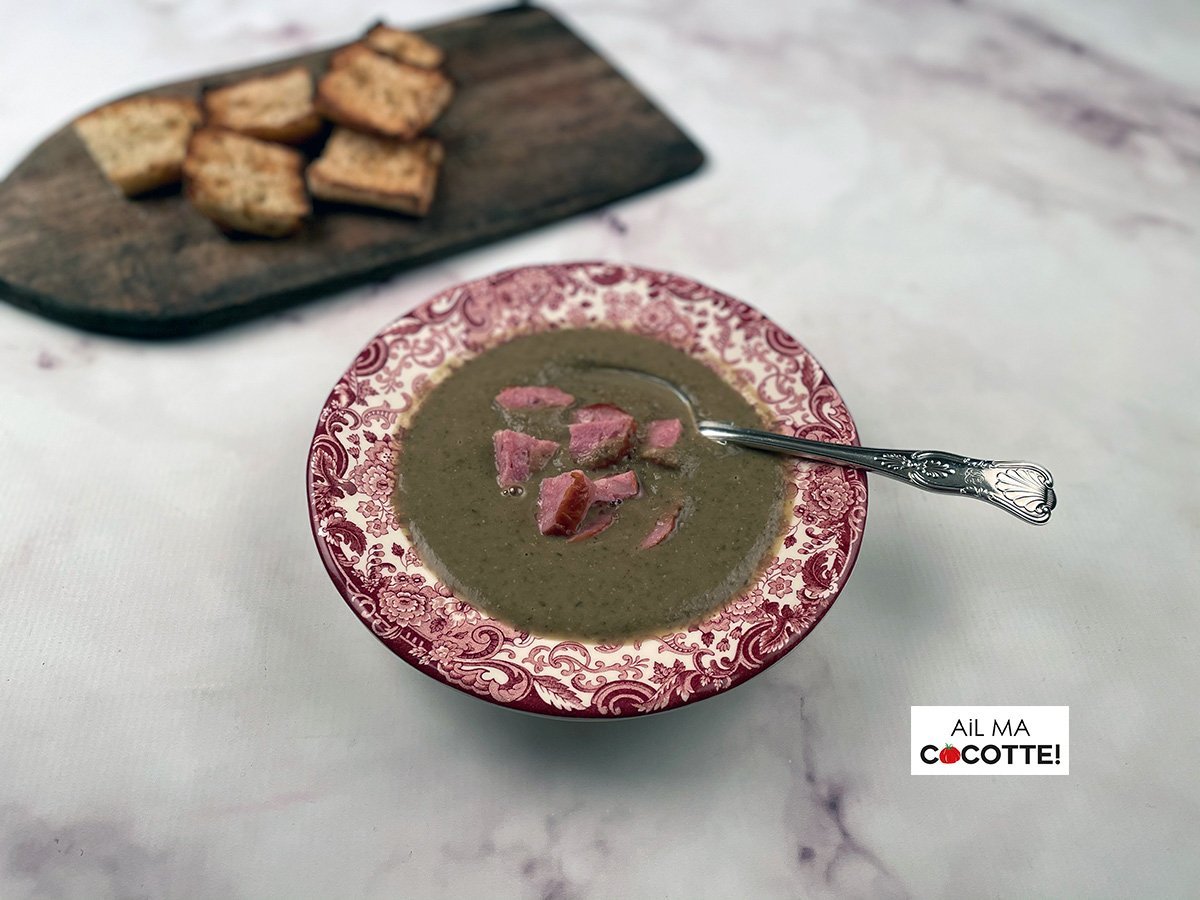 Soupe de lentilles à la saucisse de Morteau, ailmacocotte.com