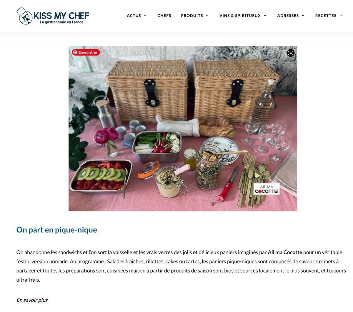 Kiss My Chef, ailmacocotte.com