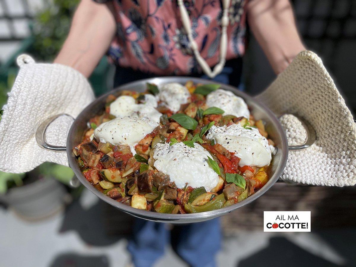 Légumes grillés burrata, ailmacocotte.com