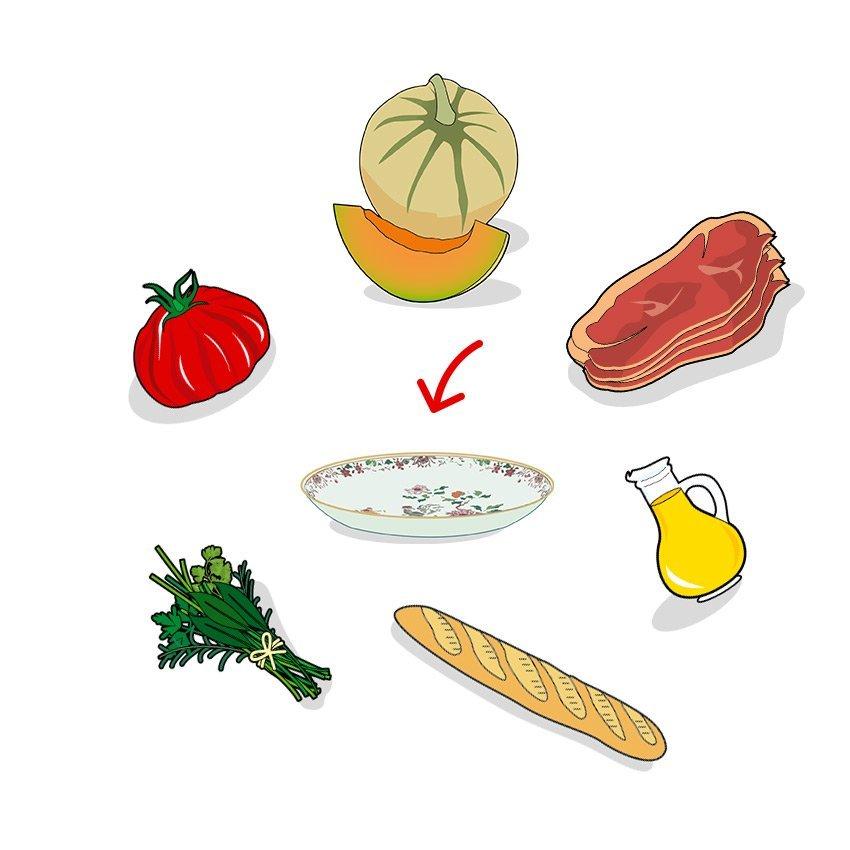 Icones des ingrédients comosant la recette, ailmacocotte.com