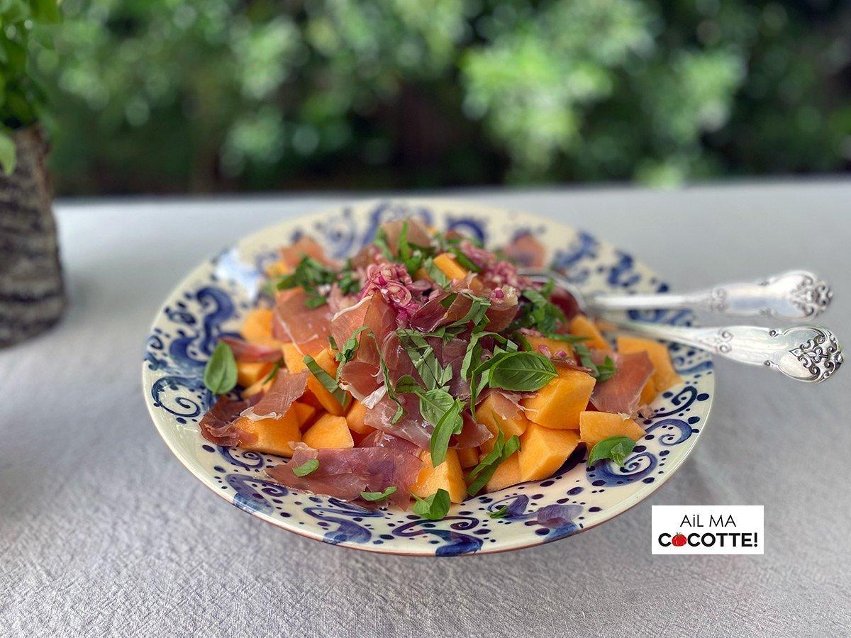 Panzanella au melon et jambon de Parme, ailmacocotte.com