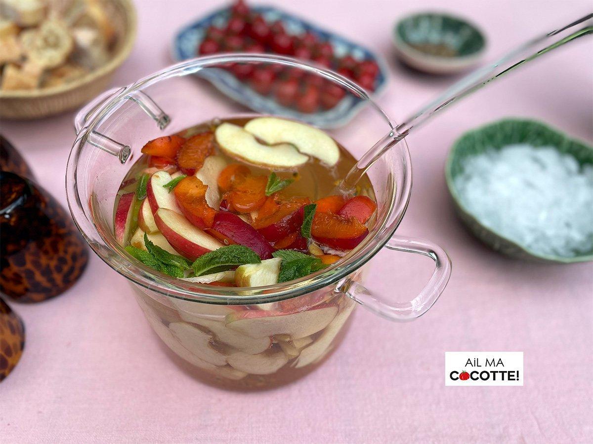 Sangria blanche aux fruits d'été, ailmacocotte.com